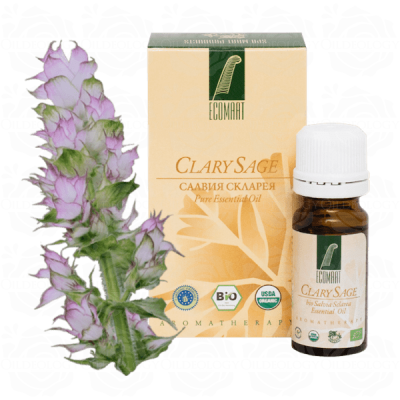 Organic Pure Clary Sage oil 10ml Ecomaat