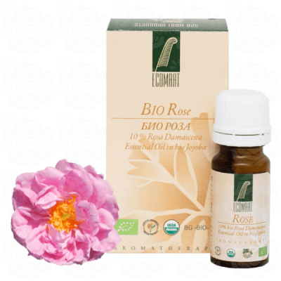 Organic Bulgarian Rose oil 10ml  Ecomaat