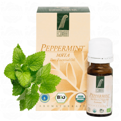 Organic Pure Peppermint oil 10ml (Mentha Piperita) Ecomaat