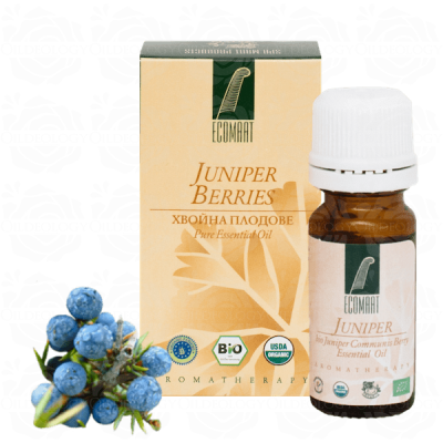 Organic Pure Juniper Berry oil 10ml (Fructus Juniperus Communis) Ecomaat